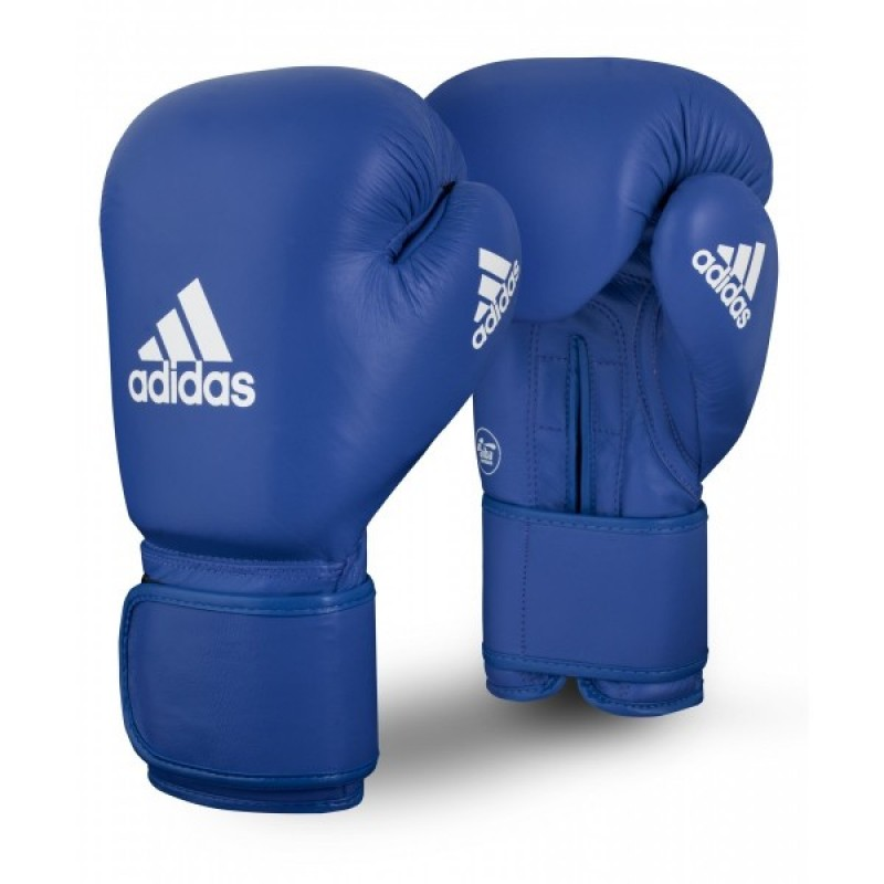 Adidas AIBA Licensed Boxing Gloves BLUE 10 OZ